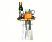 Vintage Concepts VCWLPWCP Wine & Cheese Pewter Winelight Painted