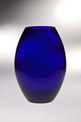 Majestic Gifts T-850-12 Classic clear 29cm . High Quality Glass Cobalt Barrel Vase