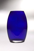 Majestic Gifts T-890-8 Classic clear 22cm . High Quality Glass Cobalt Oval Vase