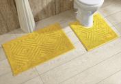 Better Trends 2PC2030YE Trier Bathrug Yellow - 50cm x 80cm . 2 Pieces