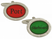 Red/Green Port Starboard Cufflinks by Zennor