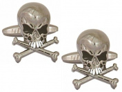 Silver Skull Cufflinks by Zennor