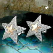 Male Star with Zirconia, 925 Silver