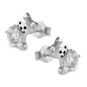 Connector Cat with Zirconia, 925 Silver