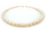 17 Inches AAA Pink Tear Drop Cultured Natural Freshwater Pearl Luxury 43cm Necklace Princess Length with Gift Box