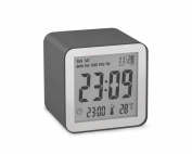 Lexon LR103PX LCD Cube Alarm Clock Plastic Grey
