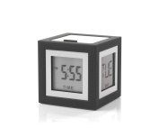Lexon Cubissimo CLR79G3 Alarm Clock LCD Display with 4 Faces Anthracite Grey