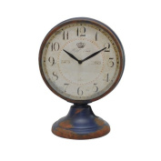 Desktop Metal Domed Fronted Clock