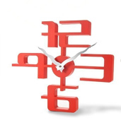 Nostalgia 11073 3D Wall Clock - 43 x 35 cm, Red