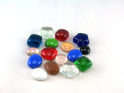 Decorative Stones-Glass Nuggets Muggelsteine-Small in different colours and shapes