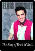 Tin Sign with Retro Elvis Presley king of rock 'N roll Design 20 x 30 CM RV Sign