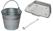 Bakaware 29cm Metal Ash Collect Tray Pan + 14 Litre Ash Tidy Bucket Bin Carrier