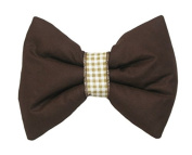 Decorative Bow with Ribbon for Baby Nursery Room Curtains / Canopy / Drape Decoration - BROWN PLAIN