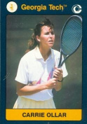 Autograph Warehouse 96642 Carrie Ollar Tennis Card Georgia Tech 1991 Collegiate Collection No. 185