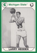 Autograph Warehouse 101292 Larry Hedden Basketball Card Michigan State 1990 Collegiate Collection No. 183