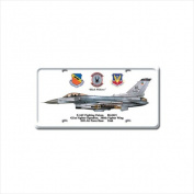 Past Time Signs DP024 F-16C Fighting Falcon Aviation Licence Plate