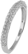 Doma Jewellery MAS02200-6 Sterling Silver Ring with CZ - Size 6