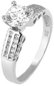 Doma Jewellery MAS02183-6 Sterling Silver Ring with Cubic Zirconia - Size 6