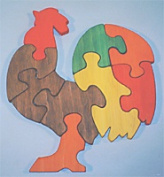 THE PUZZLE-MAN TOYS W-1171 Wooden Educational Jig Saw Puzzle - Rooster