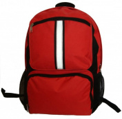 K-Cliffs 46cm . Backpack With Safety Reflective Stripe - Red
