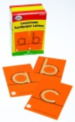 Didax Lowercase Tactile Sandpaper Letter Set - 28
