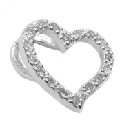 Gallay Pendant, Cubic Zirconia Heart 925 Silver Eyelet interior: 4 MM x 2 MM, weight: 1.4 g Alloy