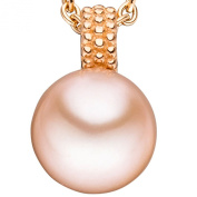 JOBO Pendant 585 Gold / Red Gold with 1 Freshwater Pearl and Gold Pendant with Pearl Pink