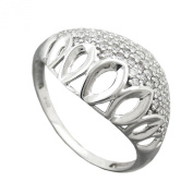 Ring, with lots of Zirconias Silver 925