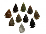 10 pcs Flint Knapping Arrowheads 2,5 - 4cm Stone Age Reproductions