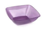 MOZAIK 4 Aubergine Square Plastic Bowls 14cm