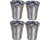 Zmatoo Stainless Steel Portable 380ml Stainless Glass Drinking Barware Wine Glasses Cup Water Tumblers Set Of 4