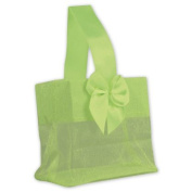 Deluxe Small Business Sales B788-34 3.25 x 8.3cm x 5.1cm . Satin Bow Mini Totes Green