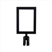 VIP Crowd Control 1705 20cm x 28cm . Sign Mount with Portrait Sign Frame - Black Finish