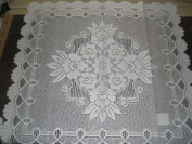 Tapestry Trading 558W3535 90cm x 90cm . European Lace Table Topper White