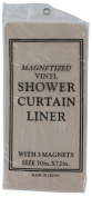 J And M Home Fashions 7616 Bone Magnetic Shower Liner