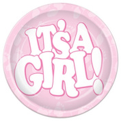 Beistle 58075 Its A Girl Plates Pack Of 12