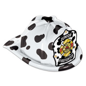 Beistle 66778D Dalmatian Plastic Jr Firefighter Hat Pack Of 48
