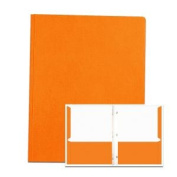 Roaring Spring Paper Products 54130 POCKETS & PRONGS 30cm . x 24cm . ORANGE - Pack of 10