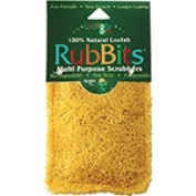 Frontier Natural Products 228163 Rubbits Natural Loofah Scrubber 10cm X 7.6cm . Assorted Colours