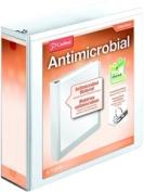 Cardinal 32230 Antimicrobial ClearVue Locking Round Ring Binder 7.6cm White