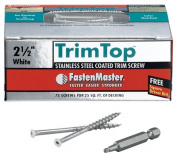FastenMaster FMTT212-75WH 6.4cm . Stainless Steel Trim Top Screws 75 Pack