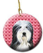 Carolines Treasures SS4497CO1 7.1cm x 7.1cm . Bearded Collie Ceramic Ornament