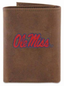 ZeppelinProducts UMS-IWE2-CRZH-LBR OLE Miss Trifold Embroidered Leather Wallet