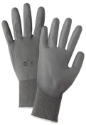 West Chester 813-713SUCG-L Grey Pu Palm Coated Graynylon Gloves