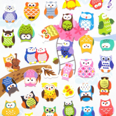 Owl Stickers - Bright, Colourful Stickers For Owl Lovers. They're A Hoot!