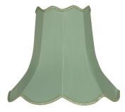 Oaks Lighting 25cm Faux Silk Scallop Shade, Sage Green