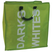 JVL Double Fabric Laundry Linen Washing Cleaning Bag with Carry Handles, Green