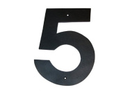Montague Metal Products HHN-5-3 7.6cm . Helvetica Modern Font Individual House Number 5