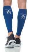 Sigvaris Performance Sleeve 412VL50 20-30mmHg Performance Calf Sleeve Compression Sock - Blue Large