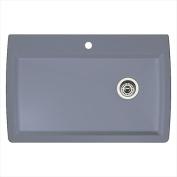 Blanco 440193 Diamond Super Single Bowl Silgranit II Drop-In Kitchen Sink - Metallic Grey